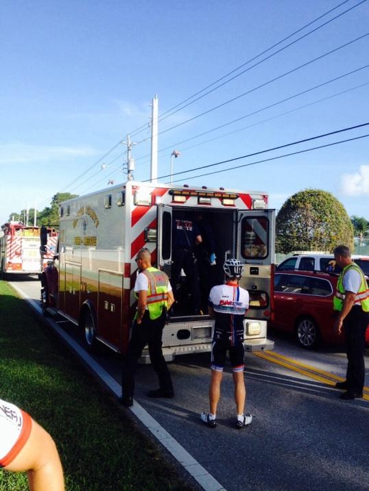 ambulance at crash site