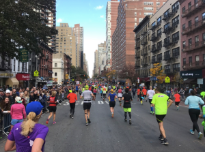 1st Ave is a runner's path on Marathon Day